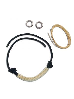 Myler Black Leather Noseband Kit for Combination Bits
